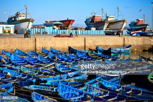 Fishing boats at Essaouira harbour