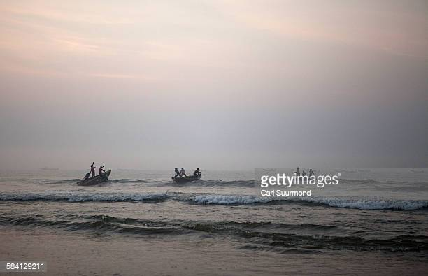 Fishing boats at Puri beach
