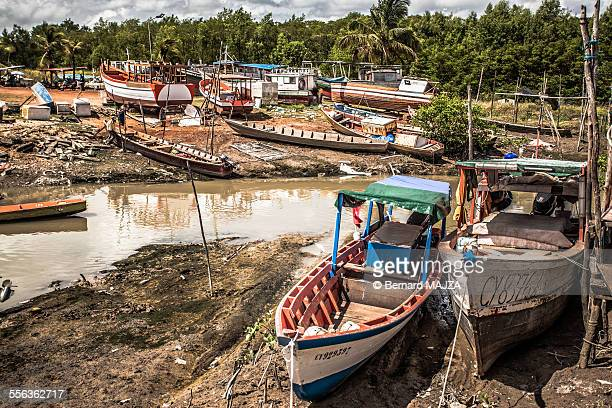 Fishing boats in Cayenne