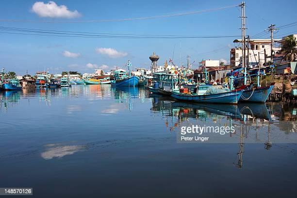 Fishing boats in Duong Dong Harbour.