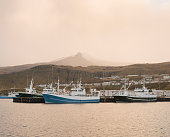Fishing boats in harbour, Olafsvik, Snaefellsnes, Iceland