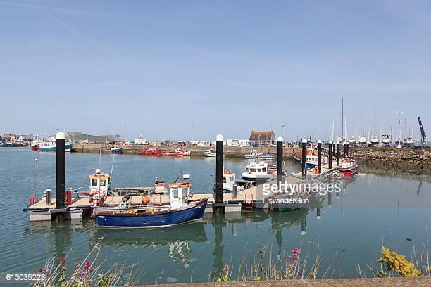 Fishing boats in Howth Harbor, Dublin
