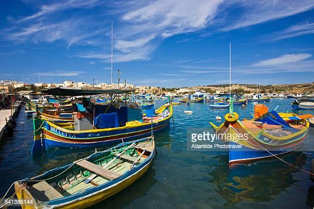 Fishing Boats in Marsaxlokk Harbor