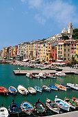 Fishing boats in Porto Venere, Italy