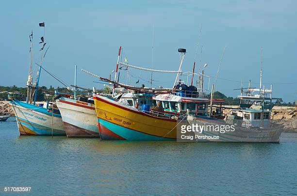 Fishing boats in Tangalla Harbour.