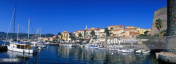Fishing boats in the harbour of Calvi, Corsica