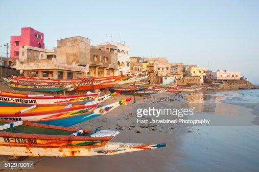 Fishing boats on Place N'Gor,Dakar, Senegal