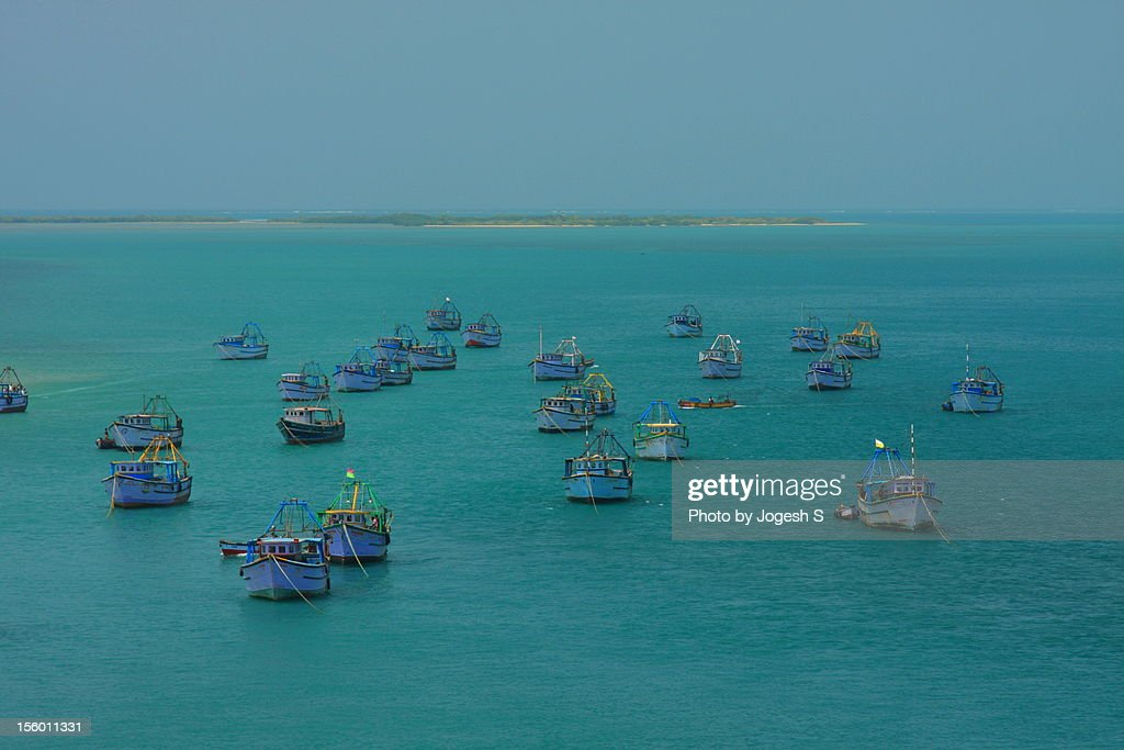 Fishing Boats, Palk Strait : Stock Photo