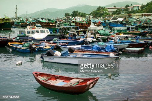 Fishing fleet in the harbour of Cheng Chau
