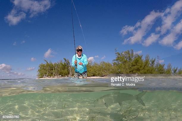 Fishing for bonefish on November 18 2016 in Cherokee Sound Abacoa