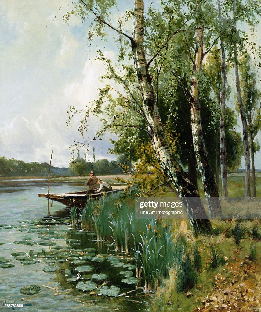 Fishing from a Punt by Arthur W Redgate