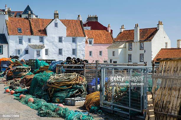 Fishing gear and houses, Pittenweem, Scotland