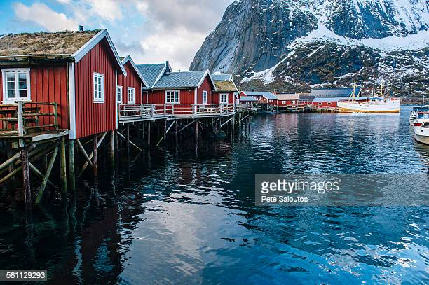 Fishing huts on stilts, Reine, Lofoten, Norway