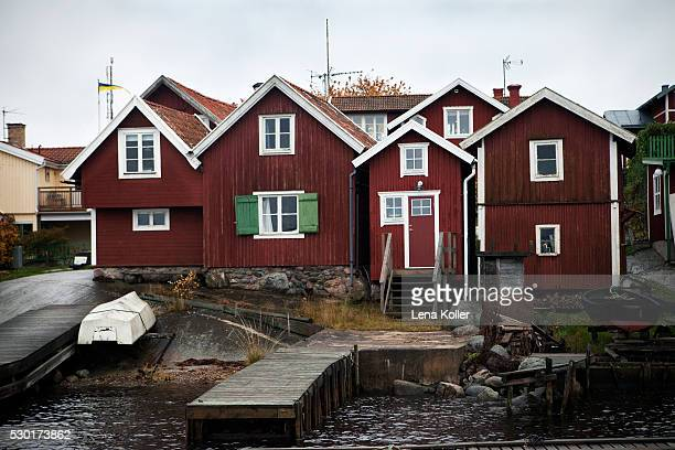 Fishing huts on Swedish East coast