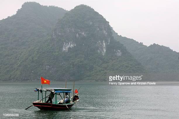 Fishing in Ha Long Bay, Vietnam