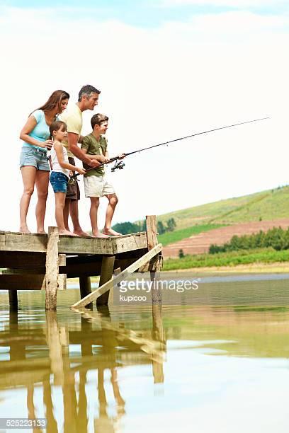 Angeln ist nicht über den Fisch aber Zeit verbringen Sie zusammen
