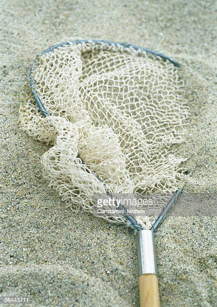 Fishing net on sand