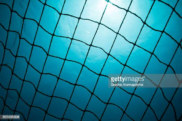 Fishing net underwater