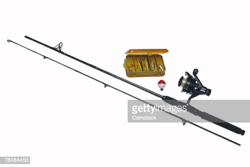 fishing pole and tackle box stock photo | getty images, Fishing Rod