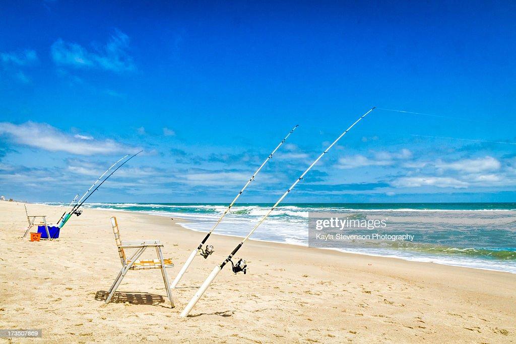 Fishing Poles on a Beach