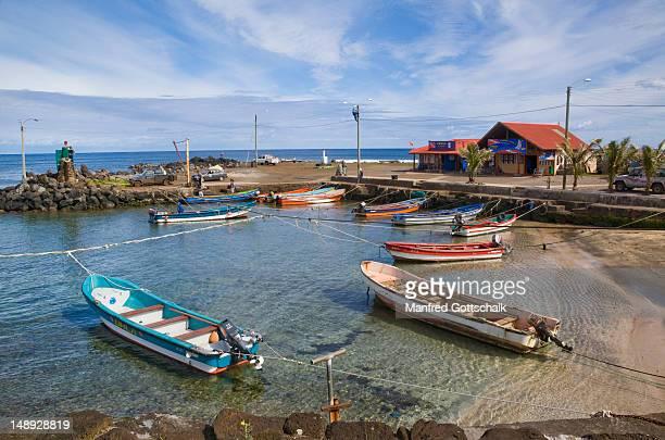 Fishing port at Caleta Hanga Roa.