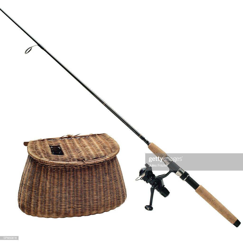 Fishing Rod and Creel