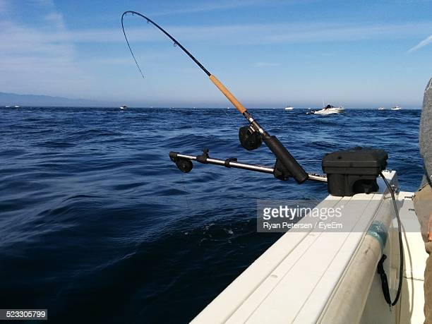 Fishing Rod On A Boat