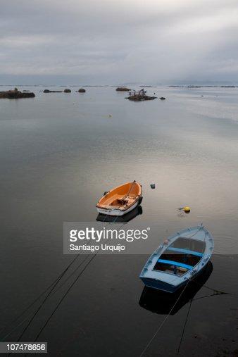 Fishing rowboats