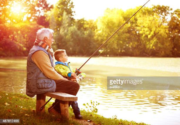Fishing together.