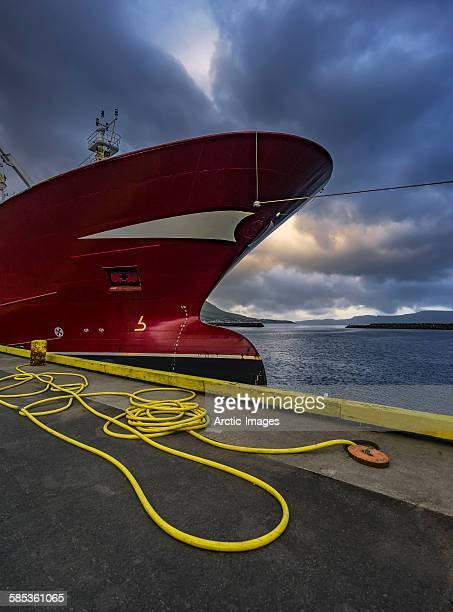 Fishing trawler docked, Iceland