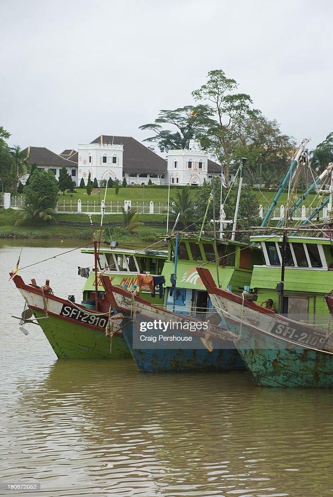 Fishing trawlers on the Sarawak River, Kuching