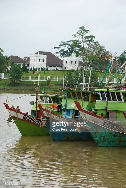 Fishing trawlers on the Sarawak River, Kuching
