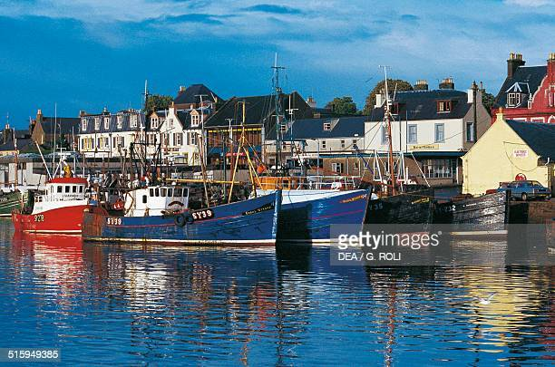 Fishing vessels in Stornoway port Isle of Lewis Outer Hebrides Scotland United Kingdom