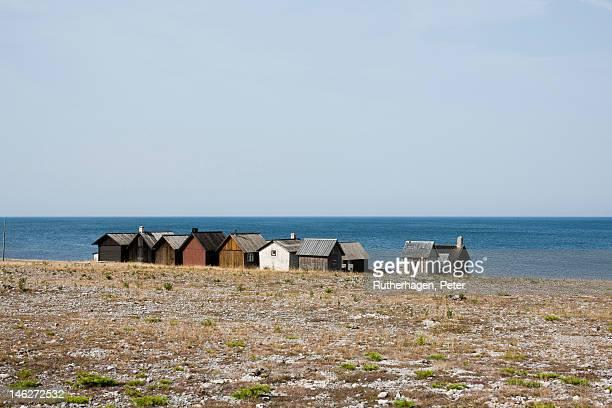 Fishing village at seashore