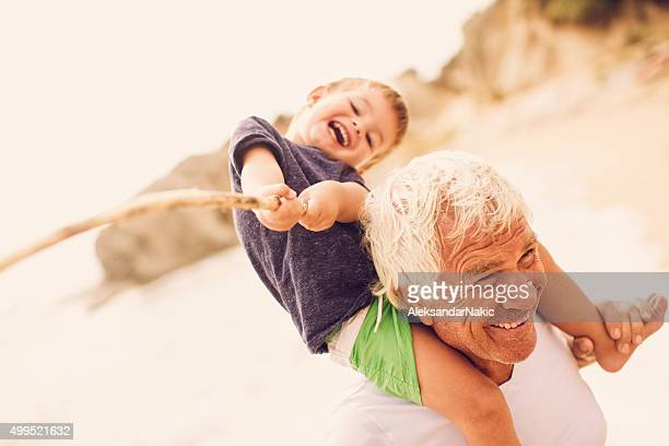 Pêche avec le bloc grandpa