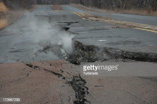 Fissure through Road