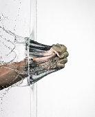 Fist braking a water wall
