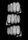 Photograph of grungy fists, just add text to knuckles