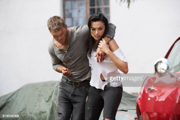 DRIVE 'A Fistful of Blood' Episode 108 Pictured Alan Ritchson as Arthur Christina Ochoa as Grace