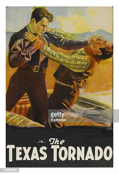 Fisticuffs on a poster that advertises the movie 'The Texas Tornado' 1932