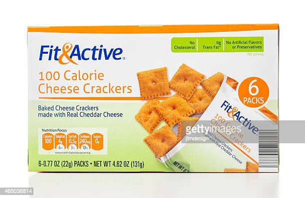 Fit and Active cheese crackers box