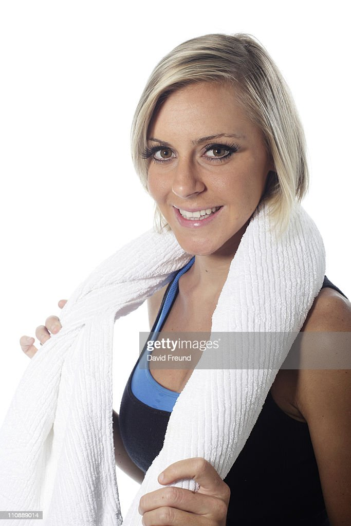 Fit Blonde Woman : Stock Photo