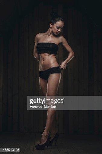 Fit Gorgeous Brunette Stock Photo