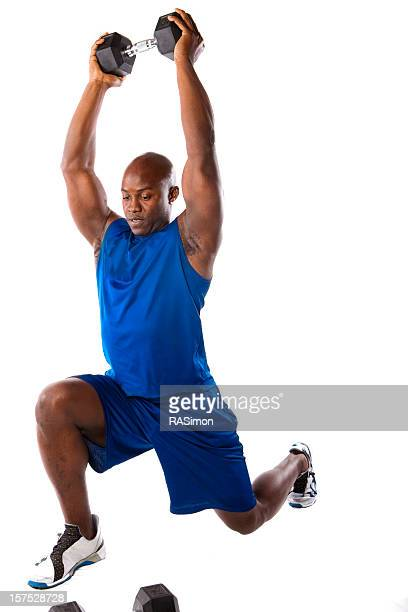 Fit Man Doing A Lunge