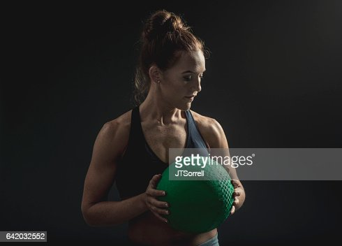 Fit Woman with Exercise Ball
