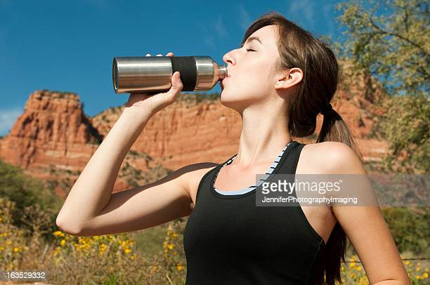 Fit Woman with water bottle