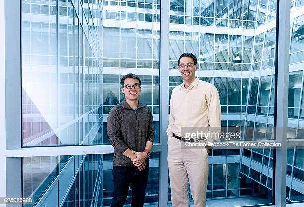 FitBit founders James Park and Eric Friedman are photographed for Forbes Magazine on December 15 2015 in San Francisco California CREDIT MUST READ...