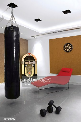fitness and entertainment room