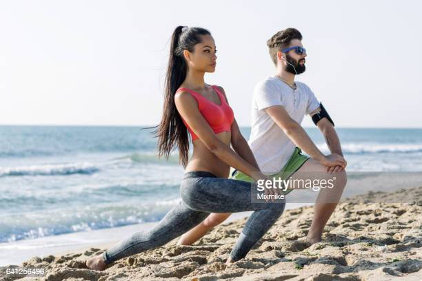Fitness at the beach