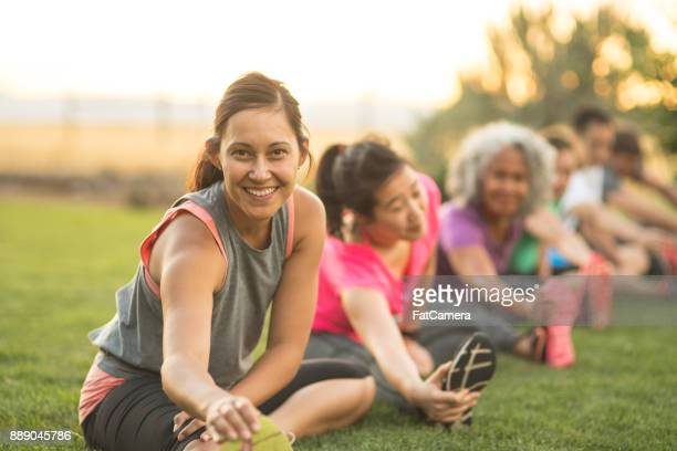 Fitness-Klasse Stretching